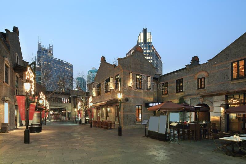 Xintiandi Шанхая стоковое изображение rf