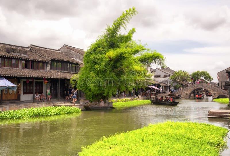 Xitang ancient water Town China royalty free stock image