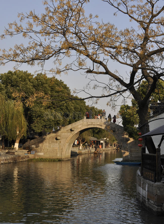 Xitang old town in winter. Xitang old town is a famous attraction around Shanghai city in China.It locates in north of Jiashan county. It attracts many people royalty free stock image