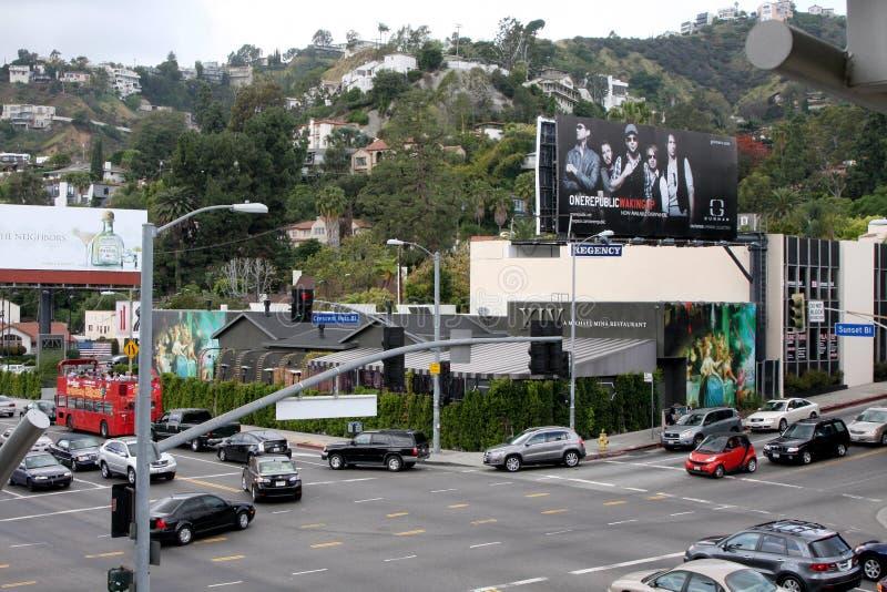 XIV de Buitenkanten van Resturant Hollywood stock foto