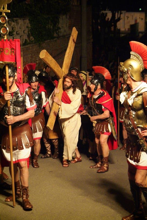 XIX编辑安蒂尼亚诺通过Crucis (在) -行动选拔2007年 免版税库存图片