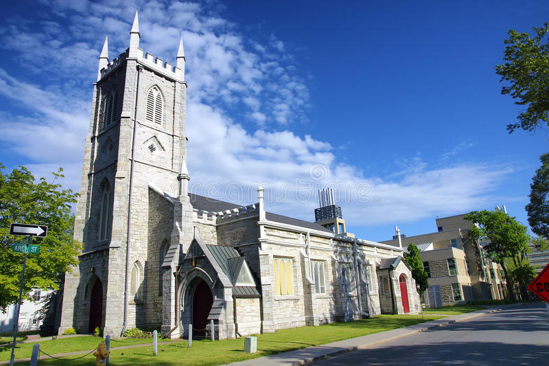 XIX век Кингстона Онтарио Канады Англиканской церкви St Paul стоковое фото