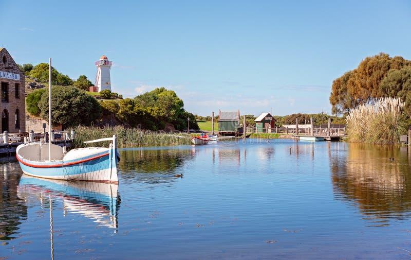 XIX Wiek Marina Przy Australia flagstengi wzgórza Morskim muzeum obrazy stock