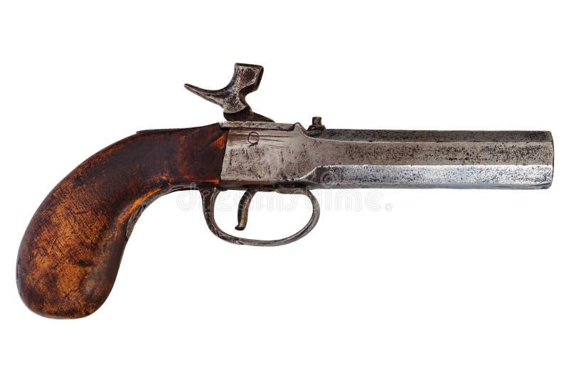 XIX wiek pistolecik odizolowywający na bielu obrazy stock