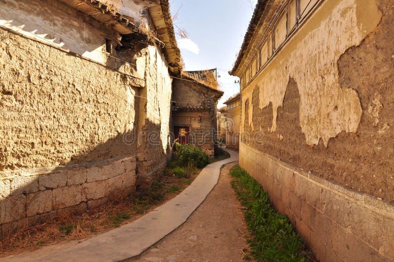 Xizhou, Yunnan, China. Carril del pueblo imágenes de archivo libres de regalías