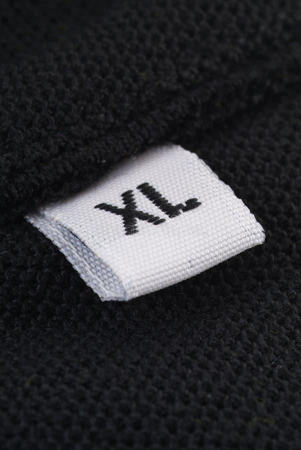 XL etiket royalty-vrije stock foto