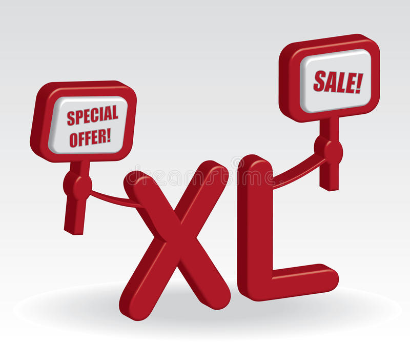 Download XL sale illustration stock vector. Image of sale, label - 23525551