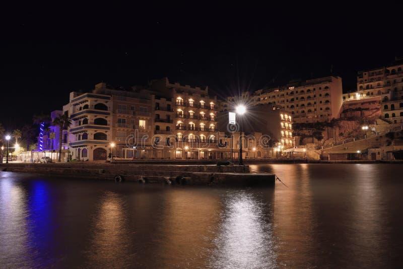 Xlendi fjärd Gozo royaltyfria bilder