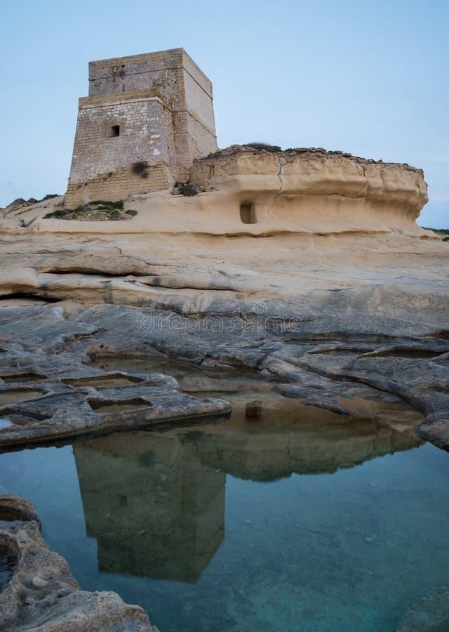 Xlendi torn i Gozo arkivfoto