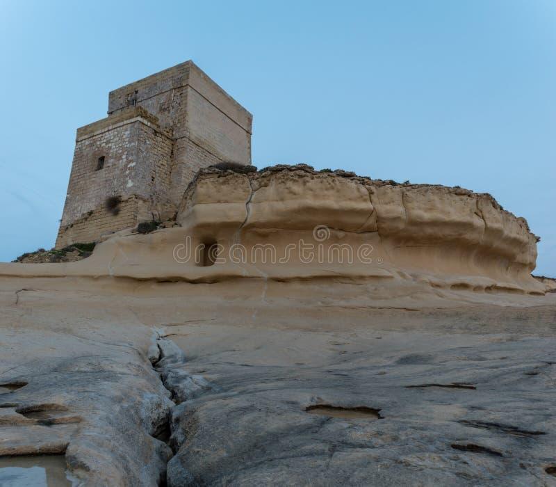 Xlendi wierza w Gozo obrazy royalty free