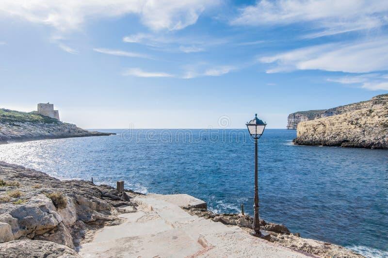 Xlendi zatoka w Gozo wyspie, Malta. fotografia royalty free
