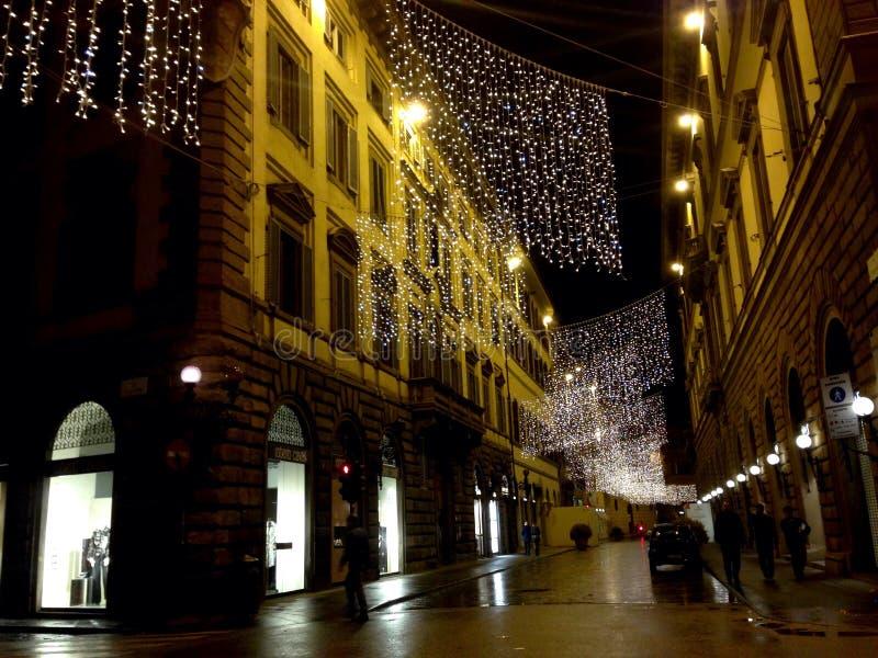 Xmas在佛罗伦萨 免版税库存图片