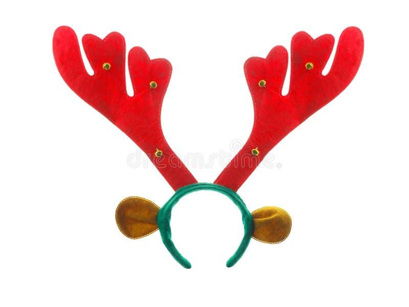 Xmas或圣诞节被隔绝的驯鹿头饰带 库存图片