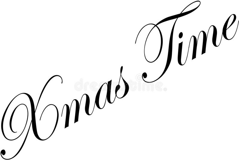 Xmas时间文本标志例证 向量例证