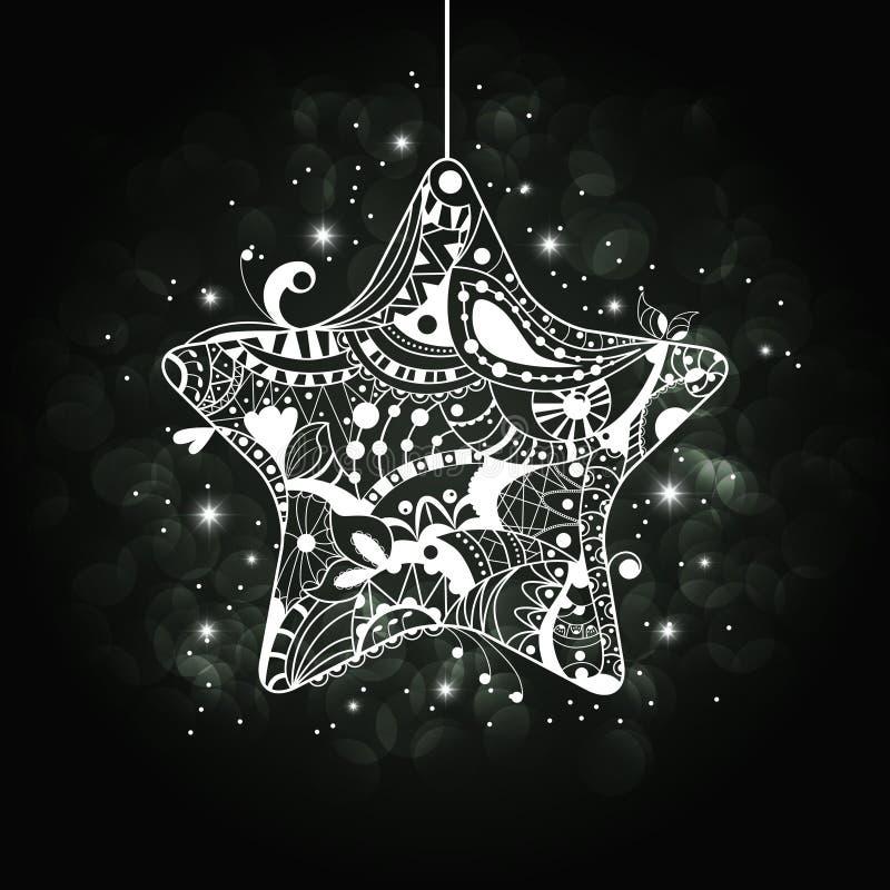 Xmas星形 库存例证