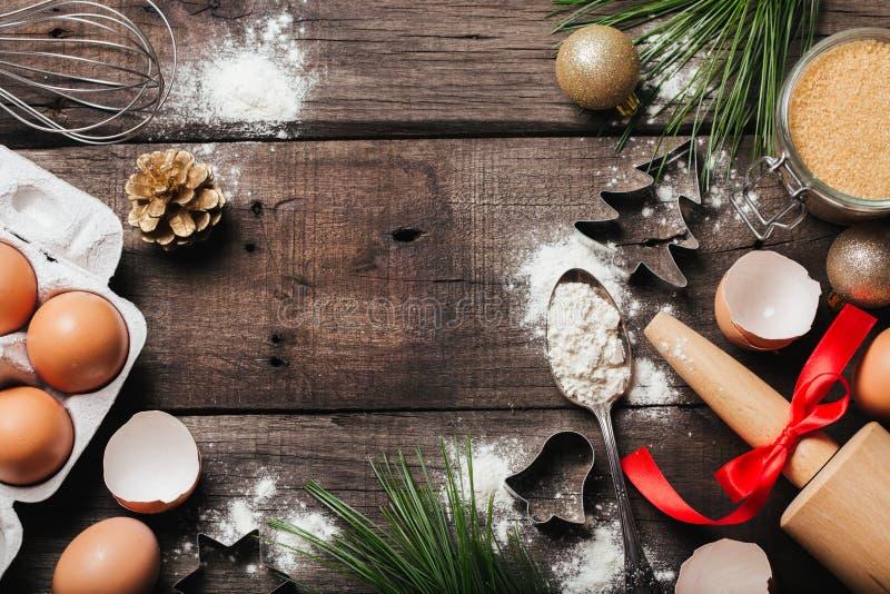 Xmas烘烤或烹调背景 库存图片