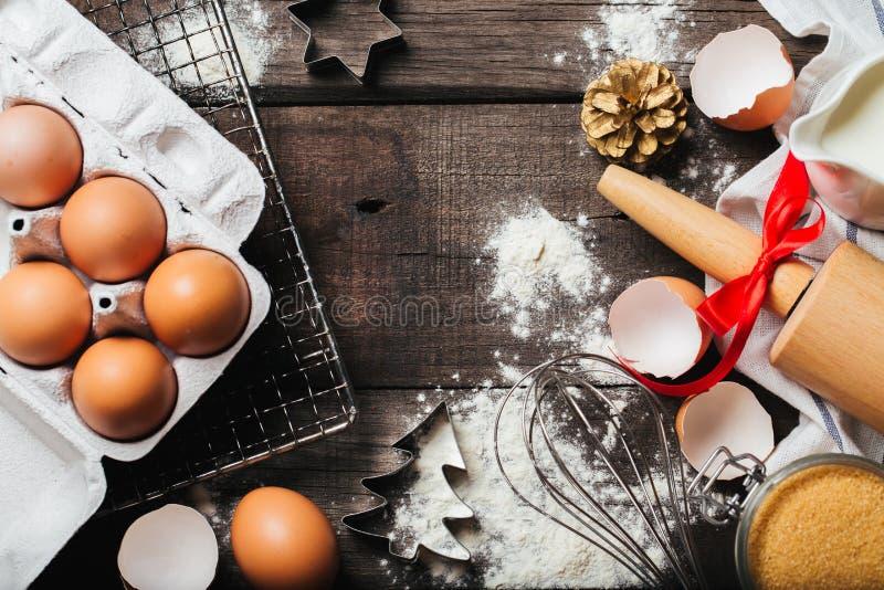 Xmas烘烤或烹调背景 库存照片