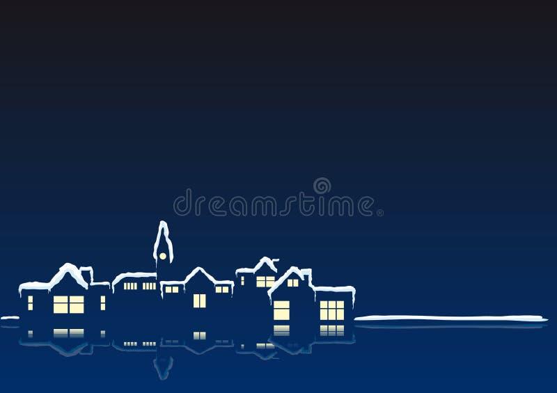 xmas городка бесплатная иллюстрация