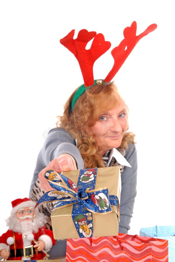 xmas женщины рождества стоковые изображения