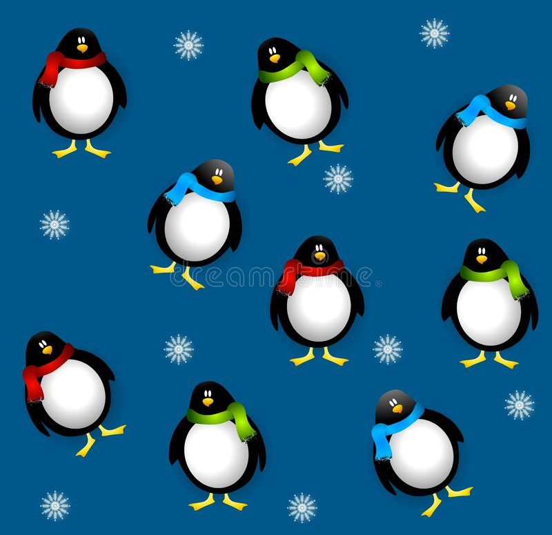 Download Xmas пингвинов tileable иллюстрация штока. иллюстрации насчитывающей tiling - 6855595