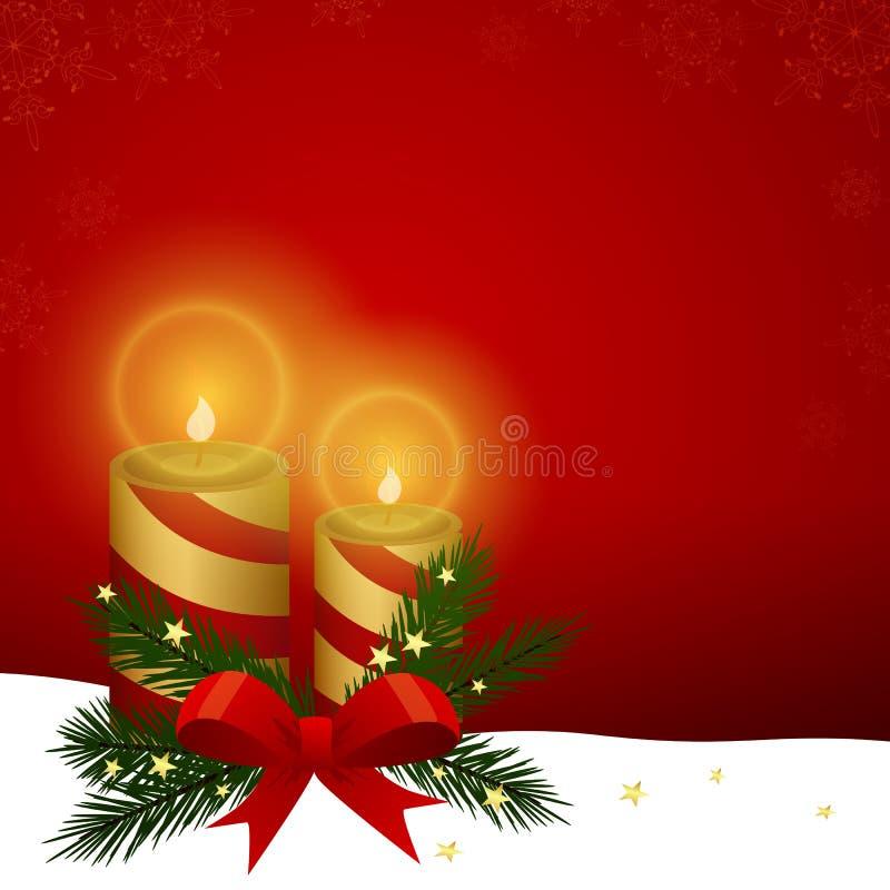 xmas подарка украшения рождества свечки предпосылки золотистый стоковое фото