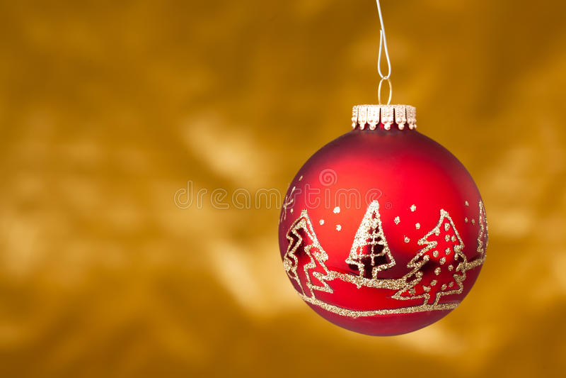 xmas шарика красный стоковое изображение