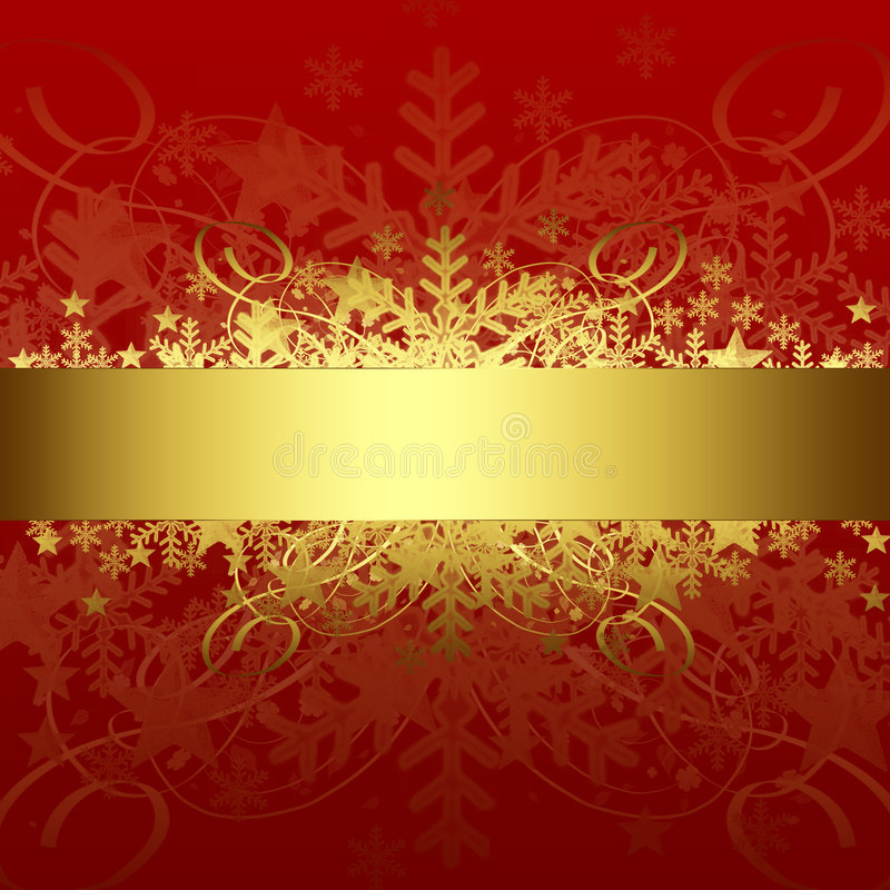 Download Xmas background stock illustration. Image of gold, floral - 7157955