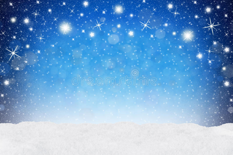 Xmas background blue snow. Blue xmas background with snow royalty free stock photography