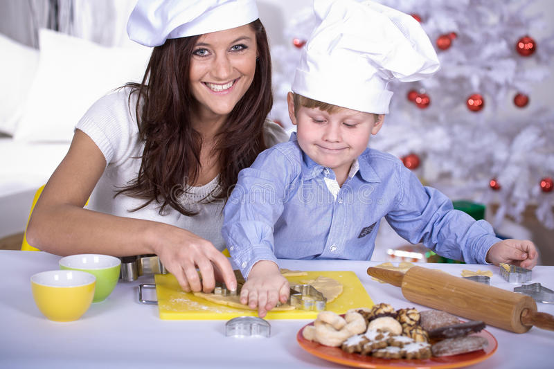 Xmas bakery stock photo