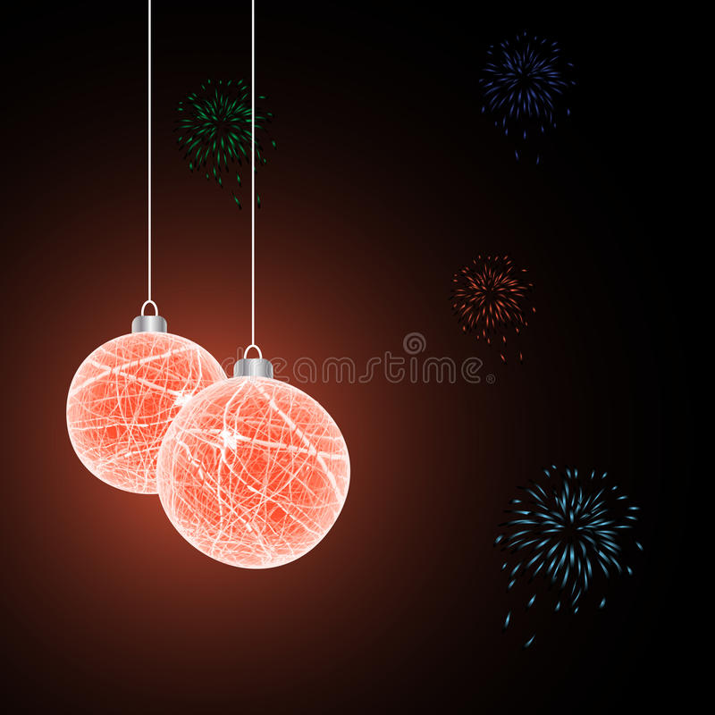 Xmas balls with grunge texture. Vector. royalty free illustration