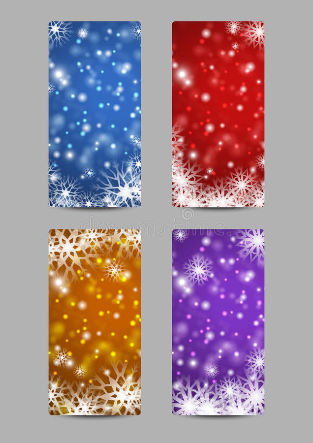 Download Xmas banners stock vector. Image of blue, ball, business - 26153023