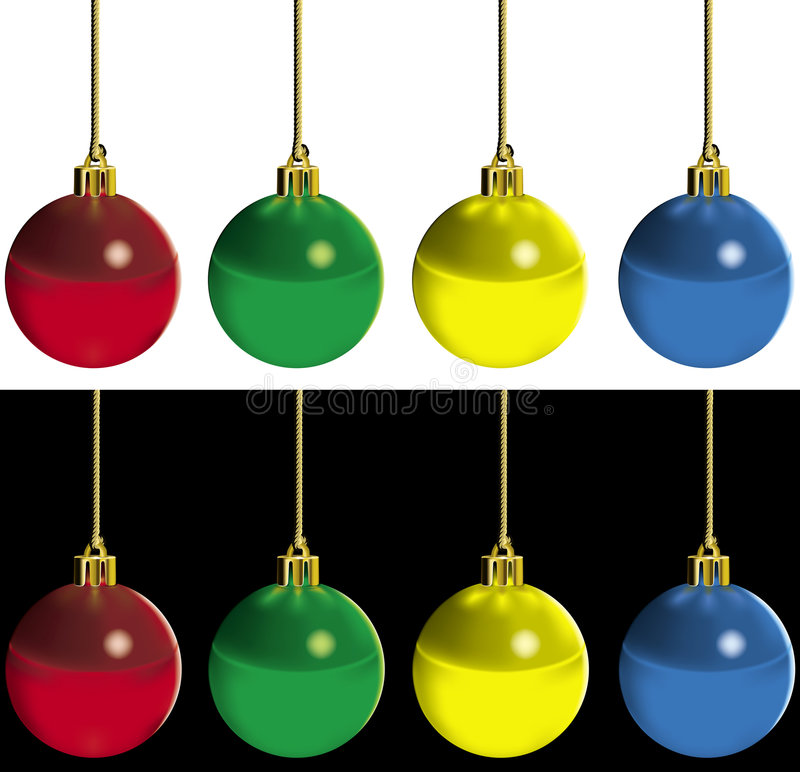 Xmas Baubles stock illustration