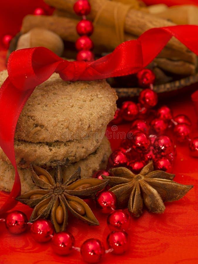 Xmas biscuits stock photos