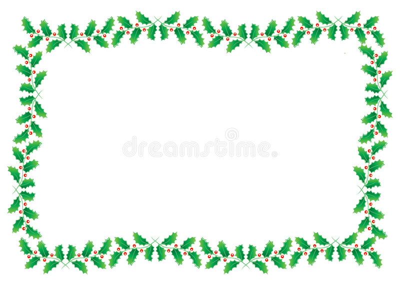 Xmas border. Beautiful leaf frame border with copy-space on center