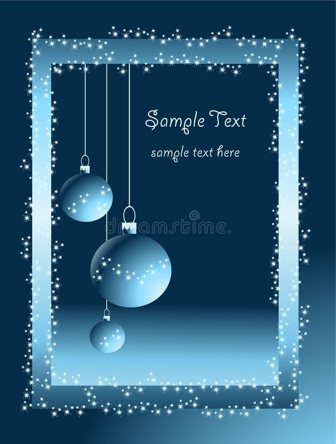 Xmas bulbs with snowflakes stock photos