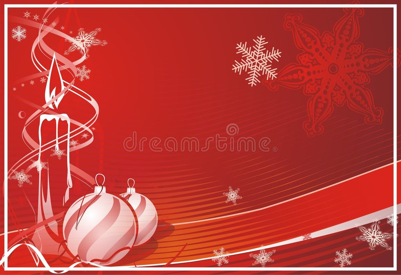 Xmas candle. Background candle creative christmass ball wallpaper xmas stock illustration