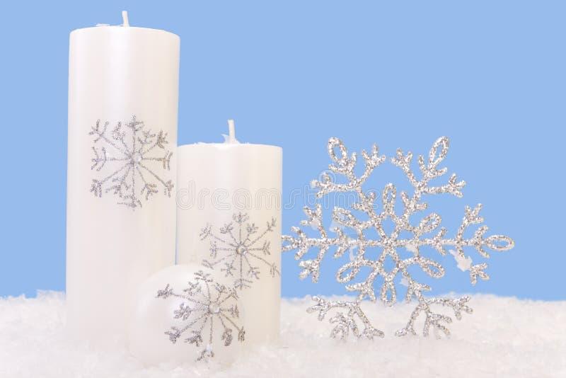 Xmas Candles Royalty Free Stock Photography