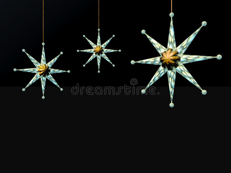 Download Xmas Card,  Star And Balls On A Wire. Stock Illustration - Illustration: 1548438