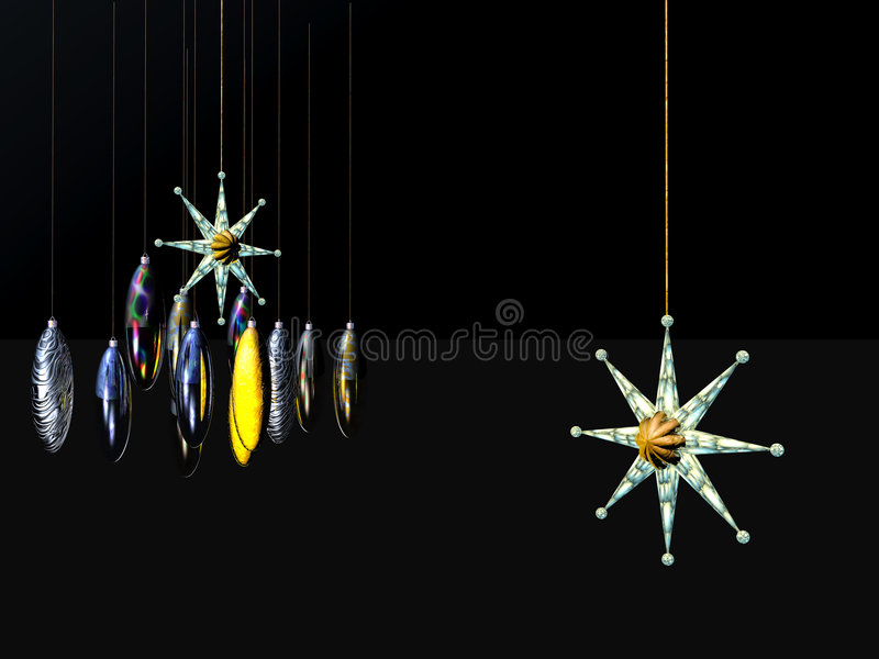 Download Xmas Card,  Star And Balls On A Wire. Stock Illustration - Illustration of illustration, colorful: 1548439
