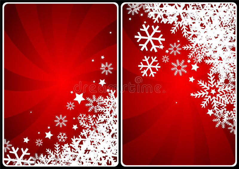 Xmas cards stock illustration