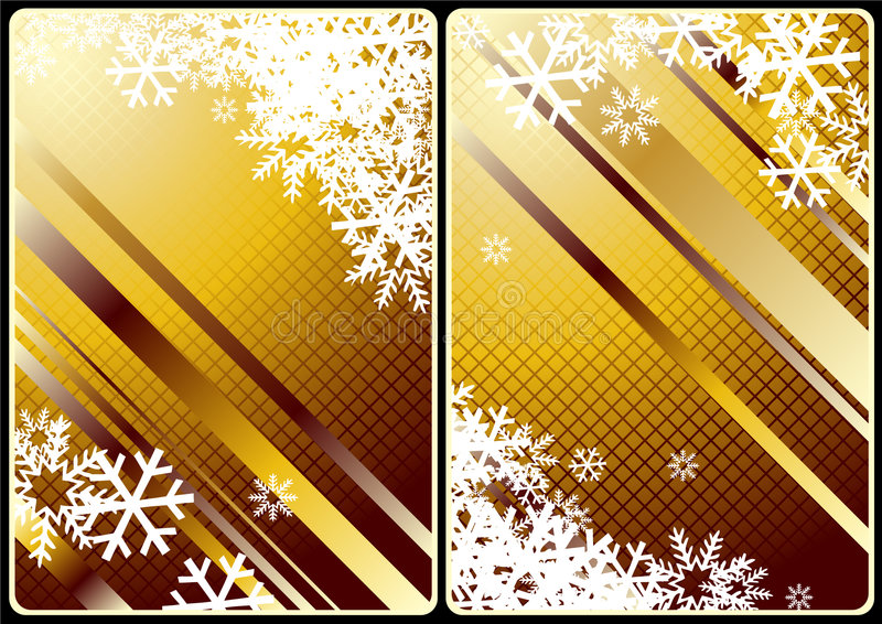 Xmas cards royalty free illustration