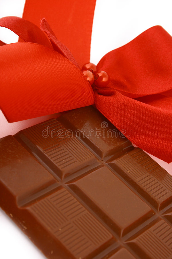 Xmas chocolate gift royalty free stock images