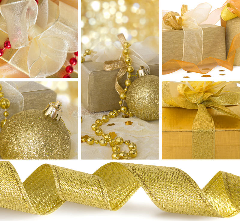 Xmas collage royalty free stock photography