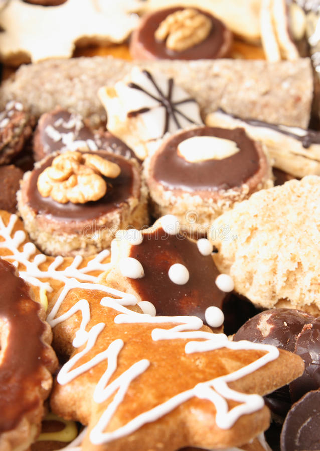 Xmas cookies from czech republic royalty free stock image