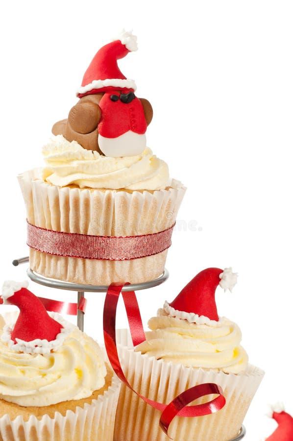 Xmas Cupcakes stock photography