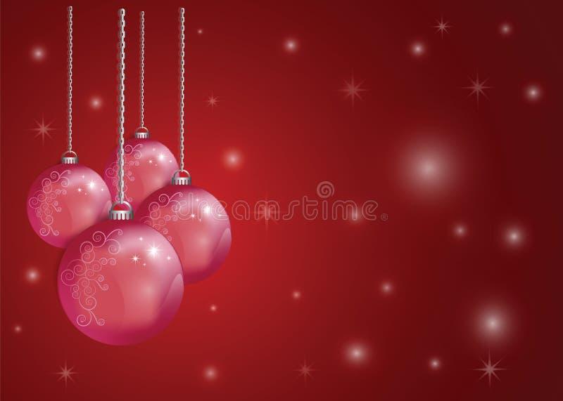 Xmas da bola do Natal e ano novo feliz ilustração stock