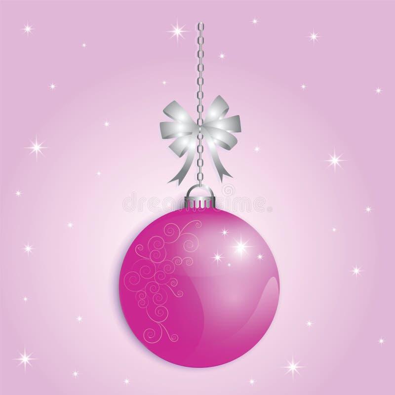 Xmas da bola do Natal e ano novo feliz ilustração royalty free