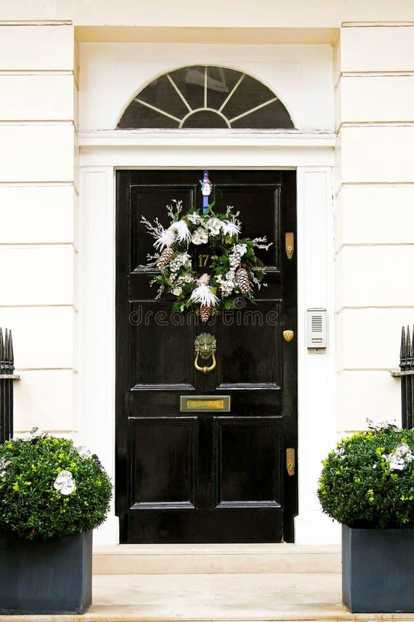 Download Xmas door wreath stock image. Image of front, welcome - 12038081