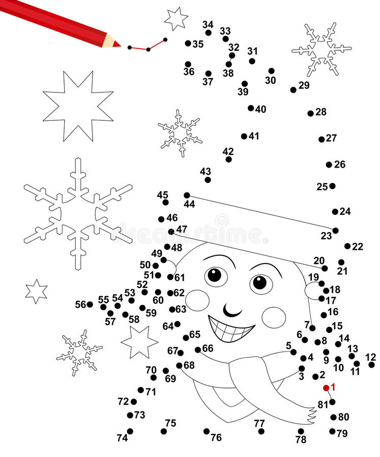 Xmas dot game stock images