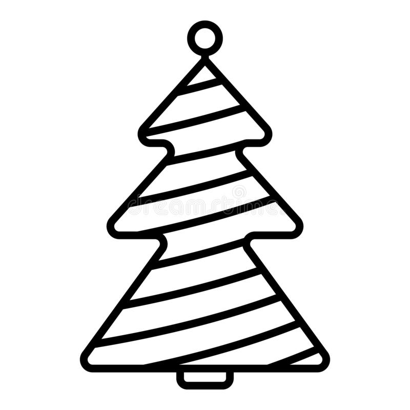 Pine Tree, Fir Tree Isolated Vector Icon For Party And ...